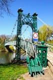 Porthill Suspension Bridge, Shrewsbury. Royalty Free Stock Image