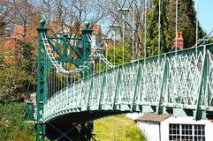 Porthill Suspension Bridge, Shrewsbury. Royalty Free Stock Photo