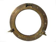 Porthle de bronze, isolado no branco Foto de Stock