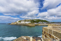 Porthlevan historic port entrance Royalty Free Stock Image