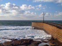 Porthleven Cornwall Arkivfoto