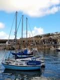 Porthleven hamn - Cornwall Royaltyfri Bild
