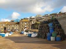 Porthleven hamn Cornwall Arkivbild