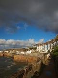 Porthleven hamn Cornwall Arkivfoton