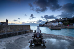 Porthleven Harbour in Cornwall Stock Photo