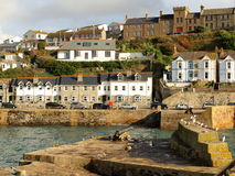 Porthleven Harbour View. The harbour in the village of Porthleven in Cornwall Royalty Free Stock Photo