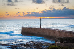 Porthleven Sunset Cornwall England Stock Photo