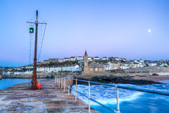 Porthleven Sunset Stock Image