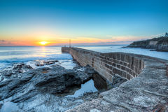 Porthleven Sunset Royalty Free Stock Image