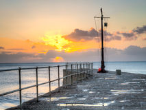 Porthleven Sunset Royalty Free Stock Photography