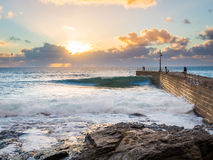 Porthleven Sunset Stock Images
