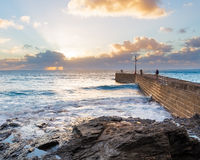 Porthleven Sunset Stock Photo