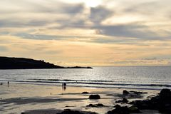 Porthmeor海滩,圣Ives,康沃尔郡,英国 免版税库存图片