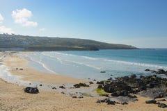 Porthmeor beach, St. Ives, Cornwall, England Stock Photos