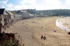 Porthmeor beach, St. Ives, Cornwall, England Royalty Free Stock Photography
