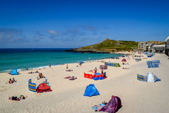 Porthmeor Beach, St Ives, Cornwall Royalty Free Stock Images