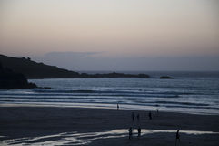 Porthmeor Beach St Ives sunset Stock Photo