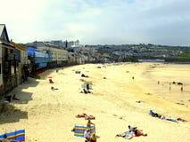 Porthmeor-Strand, St. Ives, Cornwall. Stockbilder