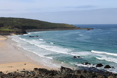 Porthmeor-Strand in St. Ives in Cornwall, England, Großbritannien Stockfotos