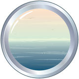 Porthole. Illustration of porthole with seascape -(vector available vector illustration