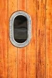 Porthole. Close up of a boat's porthole stock images