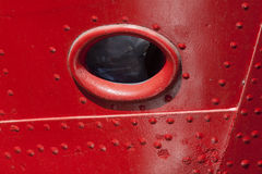 Porthole in the bow of a ship Royalty Free Stock Image