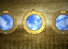 Porthole bullauge Stock Photography
