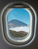 Porthole and crater of the volcano Teide Stock Photos