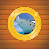 Porthole cruise liner II Royalty Free Stock Photo