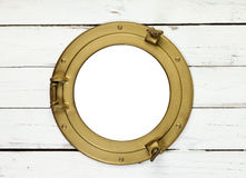 Porthole frame isolated with clipping path Royalty Free Stock Photos