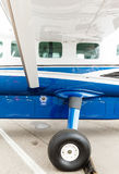 Porthole and landing gear light aircraft Royalty Free Stock Photo