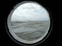 Porthole. Of an old sailboat Stock Images