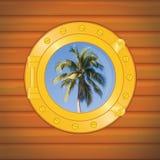 Porthole palm Royalty Free Stock Photo