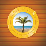 Porthole palm II Stock Photography