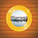 Porthole pier Stock Photo