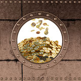 Porthole - Safe - Bitcoins. Porthole. banksafe. money bin Stock Photos