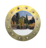 Porthole with scene Royalty Free Stock Photo