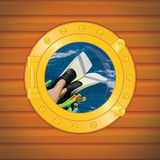 Porthole scuba. Fin for woman Royalty Free Stock Image