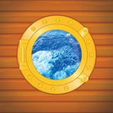 Porthole sea water Stock Photos