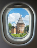 Porthole, tower and wall of the Kremlin Royalty Free Stock Photos