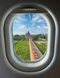 Porthole and tower wall of the Kremlin Royalty Free Stock Photography