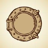 Porthole. Vector drawing Stock Image