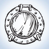 Porthole. Vector drawing Stock Image