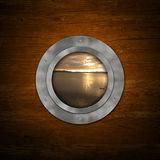Porthole view Royalty Free Stock Photos
