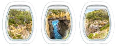 Porthole windows on Tasman Arch Royalty Free Stock Images