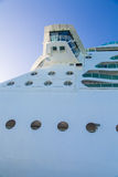Portholes and Crows Next on Cruise Ship. Details on a modern luxury cruise ship Royalty Free Stock Photography