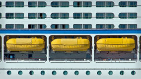 Portholes and Lifeboats royalty free stock images
