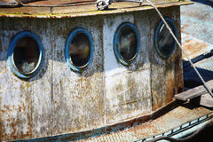 Portholes on an old ship Royalty Free Stock Photo