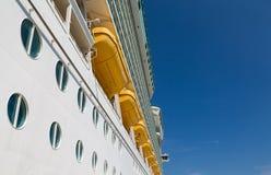 Portholes Under LIfeboats. On Cruise Ship Royalty Free Stock Image
