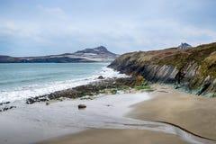 Porthselau plaża w Pembrokeshire Fotografia Stock